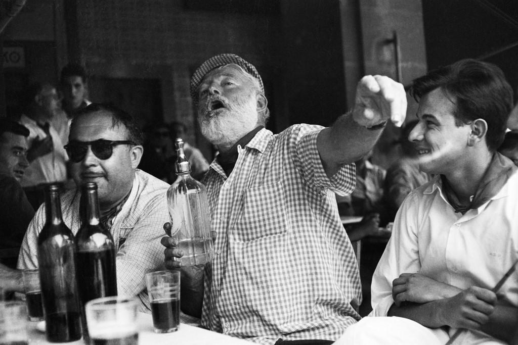 Hemingway, pletórico en los Sanfermines.